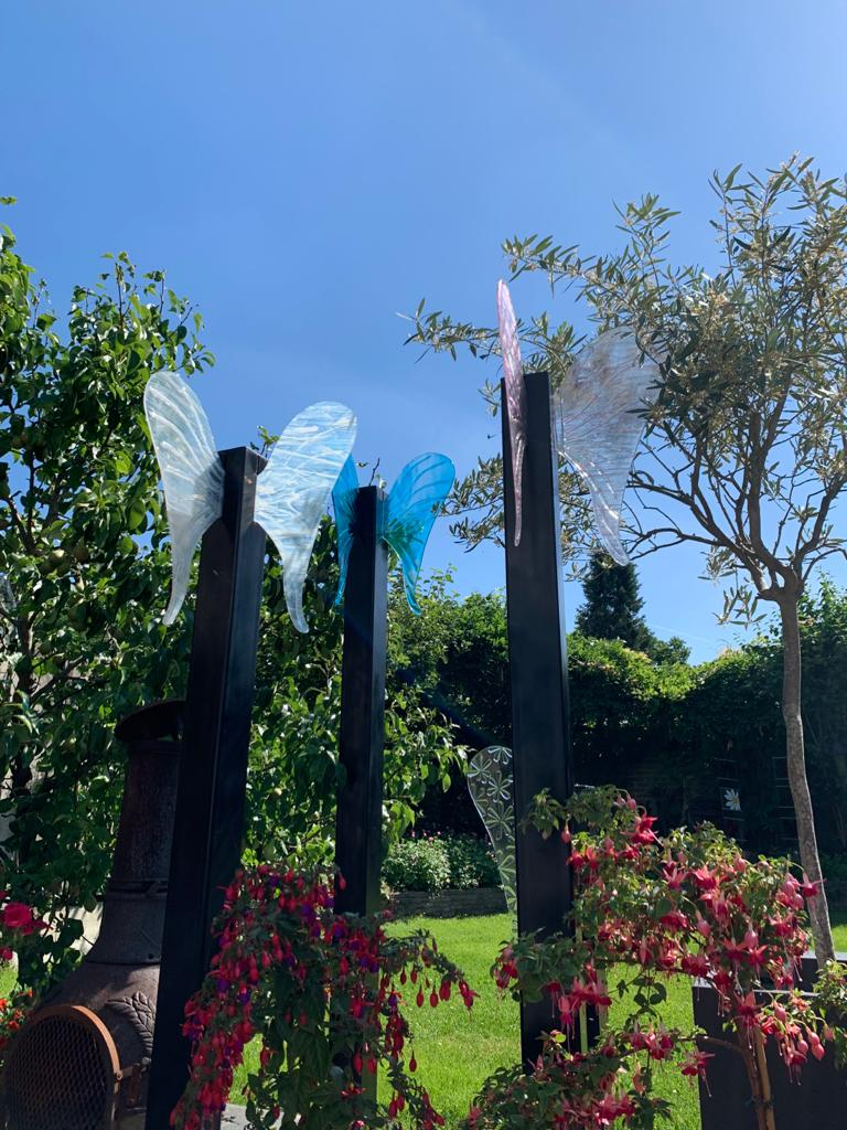 Monument Wings, Glasatelier de Spin, Oisterwijk, Noord-Brabant, Josette Meeuwis