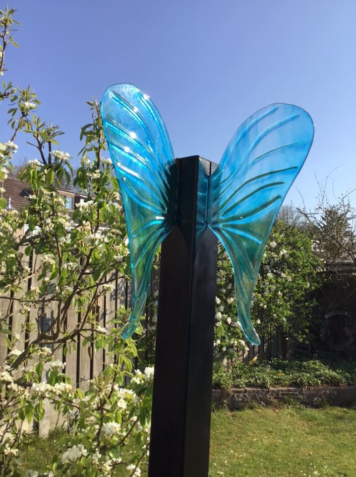 Glaskunst Monument Wings, Glasatelier de Spin, Oisterwijk, Noord-Brabant, Josette Meeuwis