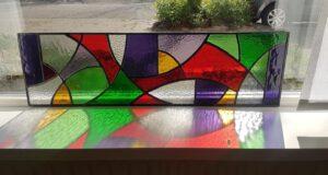 Glas in lood werkstuk gemaakt tijdens cursus bij De Spin in Oisterwijk