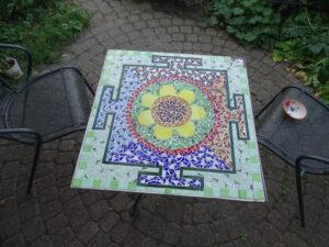 Mozaiek glas Glasatelier de Spin cursus workshop Noord-Brabant