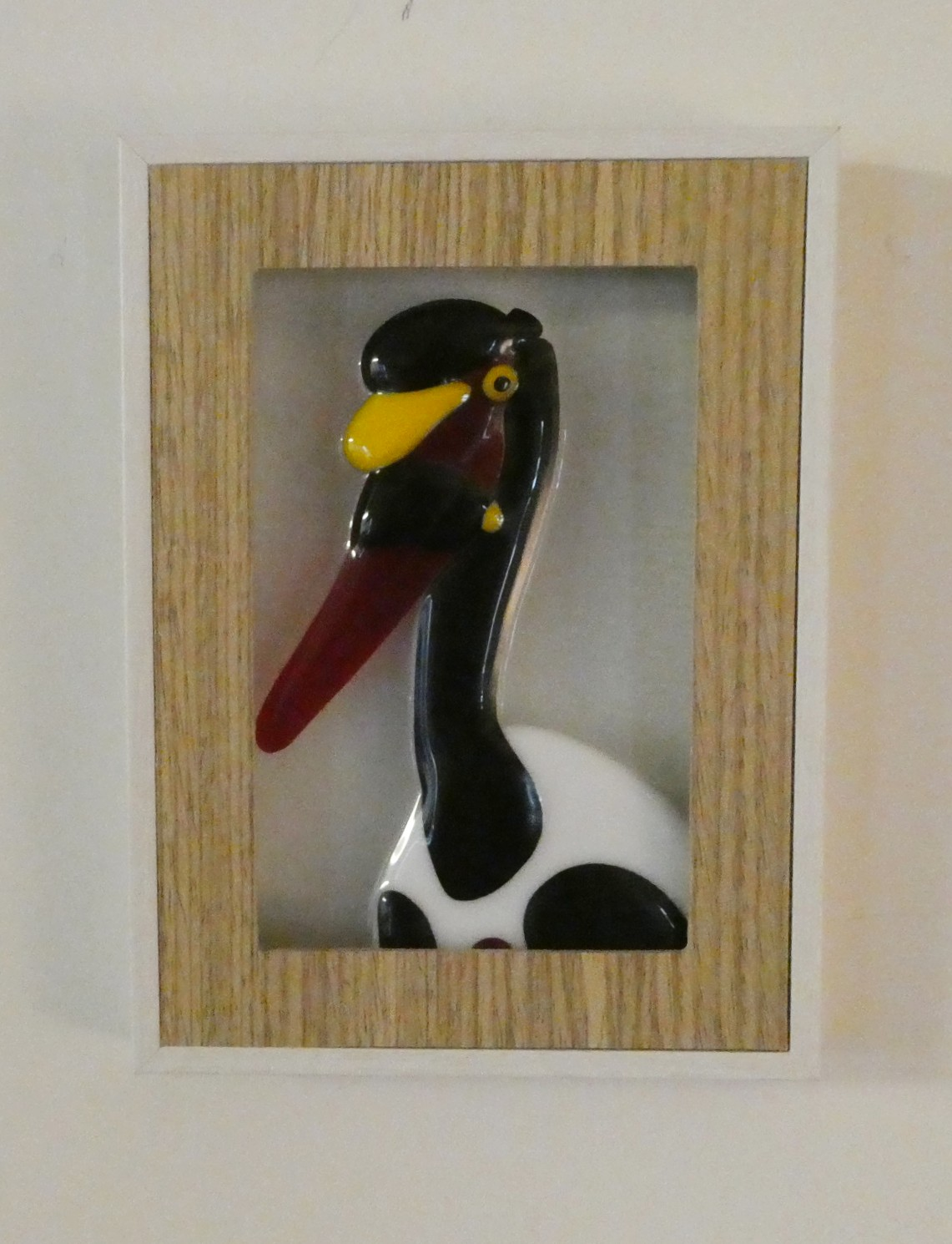 Vogels over de hele wereld, uit serie vogels gemaakt door glaskunstenaar Josette Meeuwis