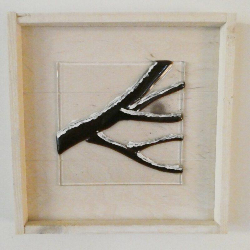 4 seizoenen, kunstwerk van Josette Meeuwis, Glasatelier de Spin in Oisterwijk