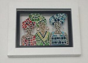 Mozaiek door cursist