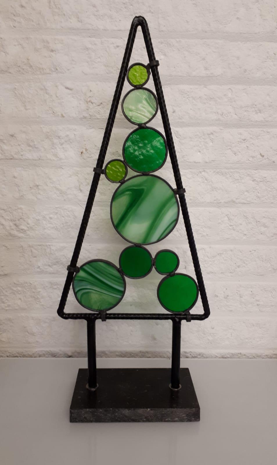 Kerst workshop bij Glasatelier de Spin